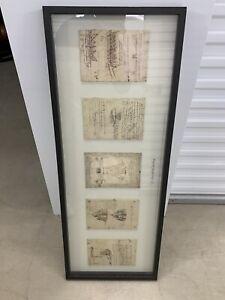 Illustration Leonardo da Vinci Print Framed Artwork IKEA Olunda 21675 Rare