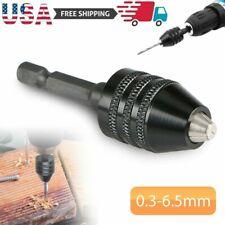 14 Keyless Chuck Converter Hex Shank Adapter Drill Bit Quick Change Driver New
