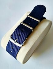 22mm Nato watch Strap Correa Reloj Nylon Pulsera Watchband Azul oscuro Dark Blue
