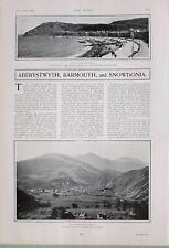 1903 Imprimé Aberystwyth Bay Barmouth Beddgelert & Snowdonia