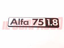 SCRITTA SIGLA COFANO POSTERIORE A.R ALFA 75 1.8 1000 cc ORIGINALE