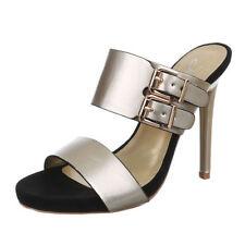 Markenlose Damen-Pumps mit Sandaletten-Stil