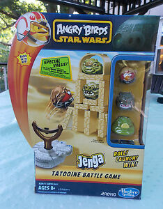 New Hasbro JENGA Angry Birds Star Wars TATOOINE BATTLE GAME w/ 3 Characters