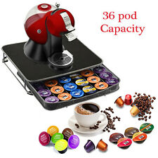 COFFEE 36  CAPSULE POD HOLDER RACK STORAGE TOWER DRAWER NESPRESSO DOLCE GUSTO