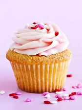 CUPCAKE PINK FOOD BAKING KITCHEN PHOTO ART PRINT POSTER PICTURE BMP2092A