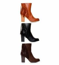 Botas de mujer negro, de Alto (7,6-10 cm)