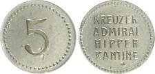 5 Pfennig nave denaro incrociatore ammiraglio Hipper SS-VZ