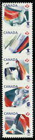Canada #2304i Olympic Definitives Strip of Five Die-Cut MNH