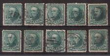 USA 1890 LOT OF 10 USED 10 cents DANIEL WEBSTER !! 61