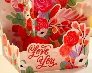 Hallmark Paper Wonder Pop-Up Valentine's Card With Envelope