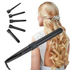 Electric Ceramic 5 in 1 Hair Crimper Curler Wand Salon Curling Tong Styler