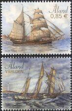 Aland 2015 Sailing Ships/Boats/Nautical/Sail/Transport/Commerce 2v set (af1035)