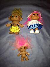 Mixed Lot of 3 Vintage Trolls - Uneeda, Russ- Dutch Girl, Ace Novelty- Boxer
