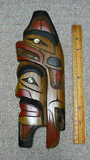 Canadian Native Heritage Bear Head Dress Carving by Detreck George