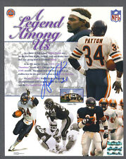 Walter Payton signed Chicago Bears color photo