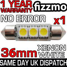 3 SMD LED 36mm 239 272 Canbus Senza Errore Xenon Bianco Targa Lampadina
