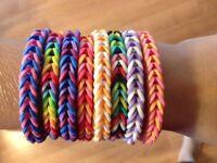 Rainbow Loom Fishtail Bracelet ~ Custom ~ You Pick Colors ~ FREE SHIPPING