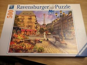 Ravensburger An Evening Walk In Paris 500 Piece Jigsaw Puzzle