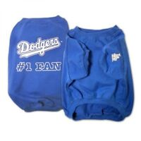 Los Angeles Dodgers #1 Fan Officially Licensed MLB Dog Tee Shirt Blue Sizes S-XL
