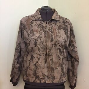 MEN'S  X-LARGE NATURAL GEAR ZIP FRONT LINED CAMOUFLAGE HUNTING JACKET VGC
