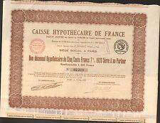 CAISSE HYPOTHÉCAIRE DE FRANCE (G)
