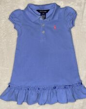 Polo Ralph Lauren Baby Girl Short Sleeve Dress (Blue) - Size 12M
