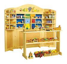 Teatrino para muñecos y tienda/puesto de varios de madera, juego para niños