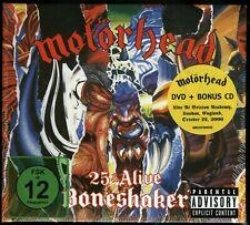 Motorhead 25 & Alive - Boneshaker CD + DVD new 2019 reissue