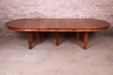 Signed Stickley Antique Mission Oak Arts & Crafts Extension Dining Table, Newly