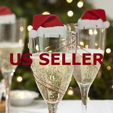 US SHIP Christmas Decorations Hats 10pcs/lot Champagne Glass Decor Paperboard