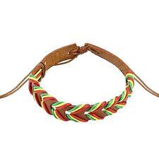 Light Brown Rasta Weaved Leather Adjustable Fashion Bracelet One Size Fits Most