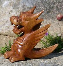 Kleiner lustiger Drache Holz Tier Dragon Figur Kinder Spielzeug KTier48