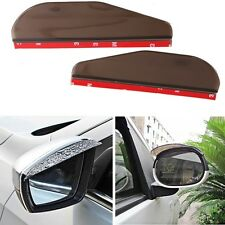 2X Car Rearview Mirror Shell Waterproof Cover Rain Shade Rainproof Blades Black