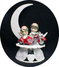 Motorcycle sidecar Wedding Cake Topper Precious Bride and Groom top Funny Moment