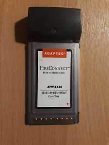 Adaptec FireConnect Notebook Laptop IEEE 1394/FireWire CardBus AFW-1430