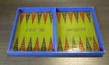 1880's JTR Paris French Jeu de Jacquet Backgammon Game Board Rules on Back