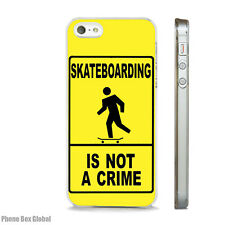SKATEBOARDING SKATEBOARD CLEAR CASE FITS IPHONE 4S 5 5S 5C 6 6S 7 8 SE X PLUS
