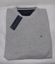 NWT MENS TOMMY HILFIGER CREW SWEATER~GRAY~SZ LRG