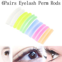 6Pair/Set Eyelash Lift Perming Curler Pads Shield Rods Silicone Embedded Rid Yfw