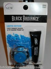 "BLACK RADIANCE LOOSE SHIMMER SHADOW & EYE SHADOW PRIMER SET ""COBALT"" NIP!"