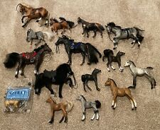 RARE HUGE (15) Vintage Plastic Horses Toys Mixed Brands Types Sets Lot ALL TYPES