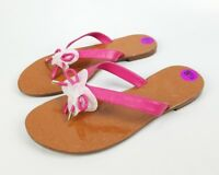 Kate Spade Womens Pink And Brown Leather Flip Flop Sandals Flats Size 8.5