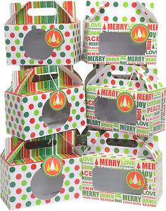 Christmas Cookie gift box Kit / Munchkin Doughnut box kit + Gift Tags 12 Count