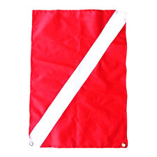 Red White Polyester Diver Down Boat Flag Marker for Scuba Diving Snorkeling