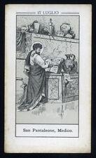 antico santino litografico- holy card S.PANTALEONE MEDICO M.