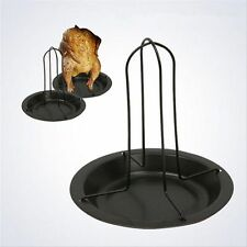 Cooking Carbon Steel Chicken Roaster Rack Grilling Pans BBQ Tools Barbecue