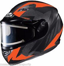HJC CS-R3 Treague Electric Snowmobile Helmet Orange XL XLG Snow Sled CS-R3SN