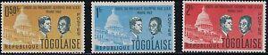 Togo SC432-437 Pres.JohnF.Kennedy&TogoPres.SiylvanusOlympio (H)