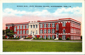 Vtg 1930s State Teachers College Science Building Murfreesboro TN Postcard