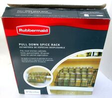 NEW Rubbermaid #8020 Pull Down Spice Rack Black Copyright 2009 Microban